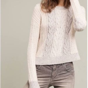🎉Anthropologie Sleeping On Snow Cable Sweater🎉